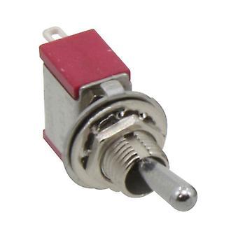 Interrupteur à bascule 1-pole, avec position médiane, les deux côtés, maintenues, ON-OFF-ON