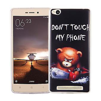 Kännykkäkotelo Xiaomi Redmi 3 kansi tapauksessa suojapussin motiivi slim silicone TPU kirjoituksella sietämään moottorisaha