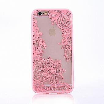 Móvil caso mandala para Apple iPhone 7 diseño funda adorno flor cubierta caso Rosa de parachoques