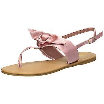Qupid Women's Thong Bow Flat Sandal