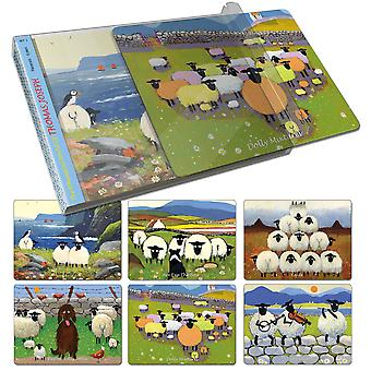 Thomas Joseph Sheep Design Place Mat Set of 6 (Set 3)