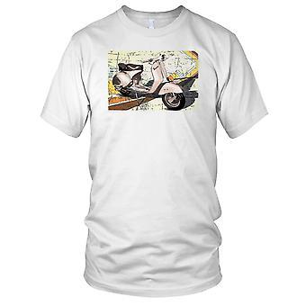 Vespa GS Classic Scooter Pop Art Mens T-skjorte