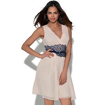 Little Mistress V-hals Mirrored kanten jurk