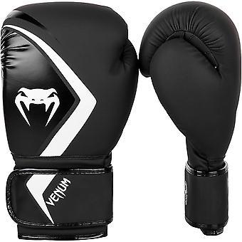 Rywal VM 2.0 hak i pętli szkolenia rękawice bokserskie - czarny/szary/biały