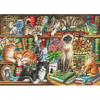Gibsons Puss in Books Jigsaw Puzzle (1000 Pieces)