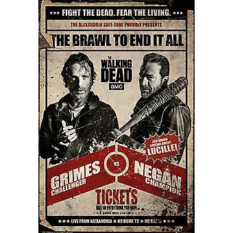 The Walking Dead Fight Poster