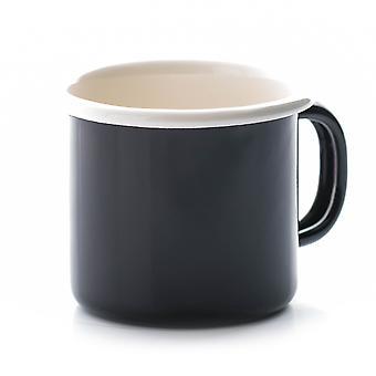 Dexam Vintage Home 450ml Large Enamel Mug, Black