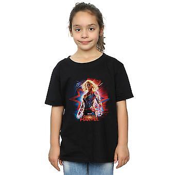 Marvel девочек капитан Marvel плакат футболку