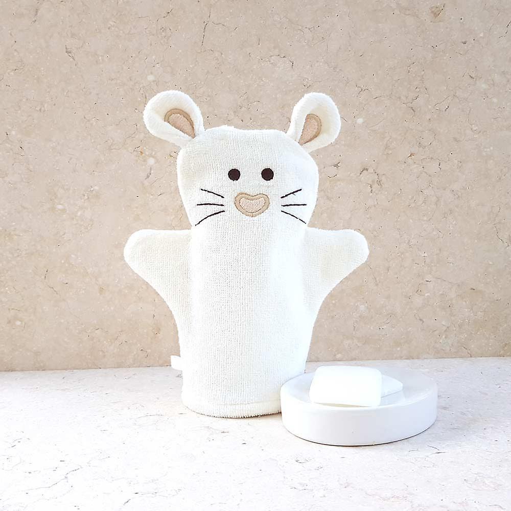 Little Mouse bath mitt