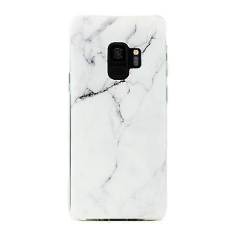 Samsung Galaxy S9 + | Zachte, witte marmeren behuizing