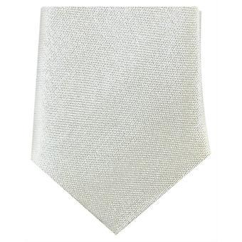 Knightsbridge Neckwear Skinny Polyester Tie - Off White