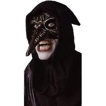 Venetianska Korpen svart Mask för Halloween