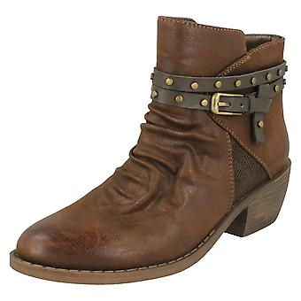 Dames tot aarde Rouched Ankle Boots F50948