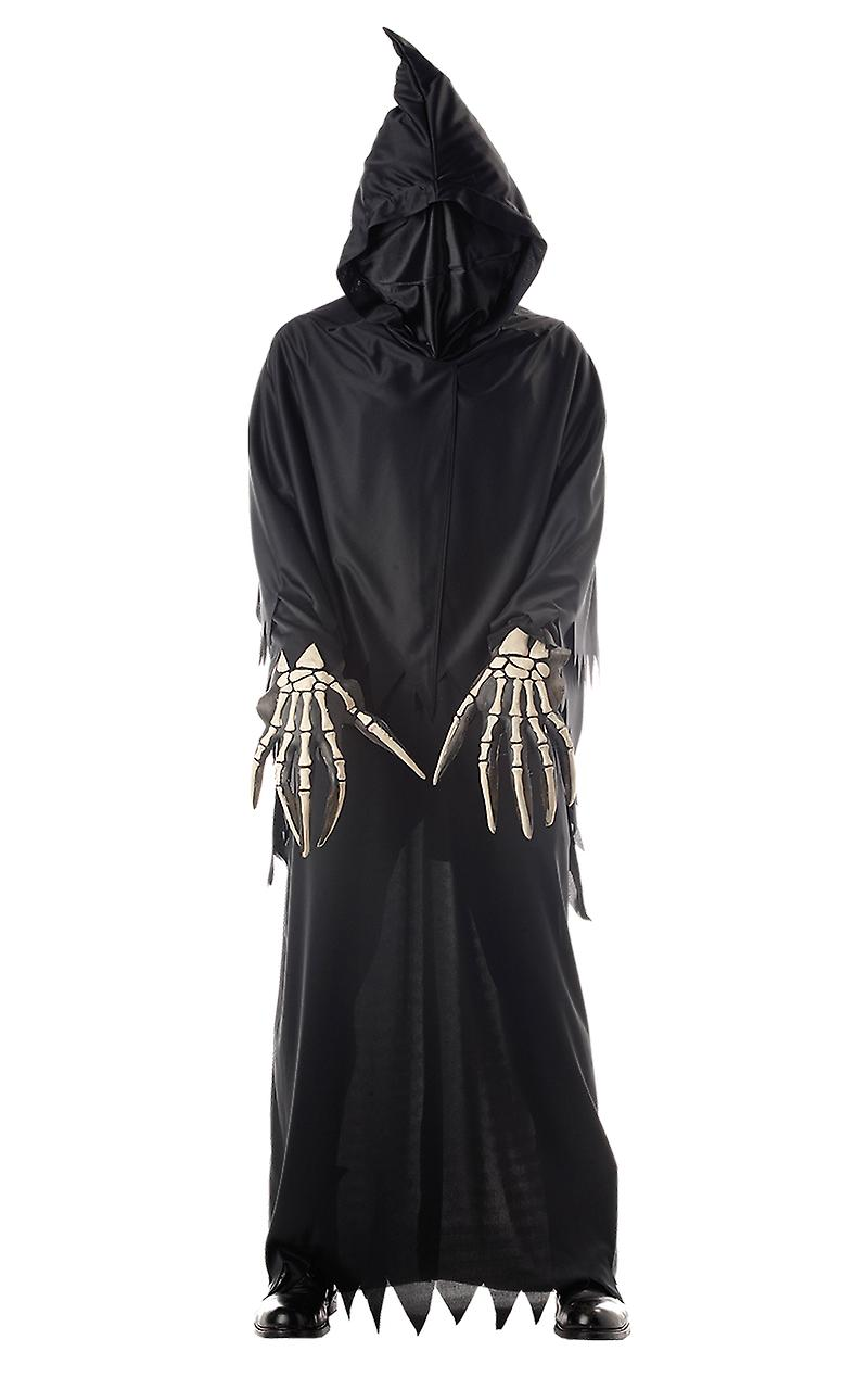 Boys Masked Grim Reaper Halloween Horror Monster Fancy Dress Costume