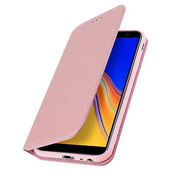 Slim Case Classic Edition stoisko sprawa dla Samsung Galaxy J4 Plus - różowe złoto