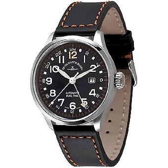 Zeno-watch Herre ur retro Tre pilot (dobbelt tid) 6302GMT-a15