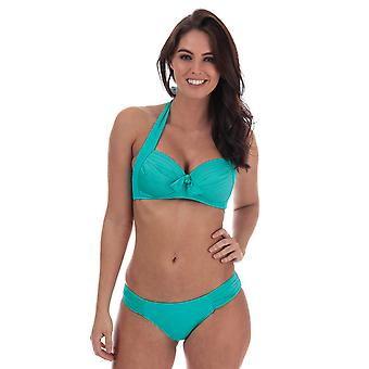 Womens Seafolly Soft Cup Halter Bikini Top In Seychelles