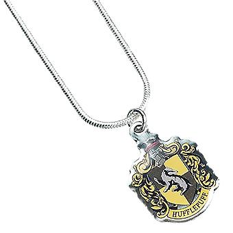 Harry Potter Silver Plated Hufflepuff Crest Necklace
