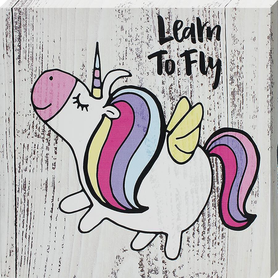 Grindstore Learn To Fly Canvas Print