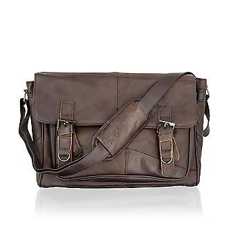 Leather Landscape Messenger Bag 15.0