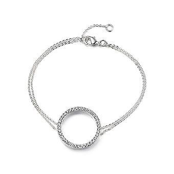 Kaytie Wu Silver Plated Circle Bracelet with Swarovski Crystals  28076
