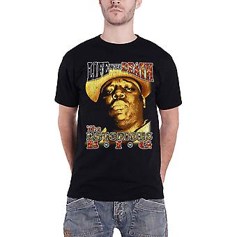 Biggie Smalls T Shirt Life After Death Şarkı Sözleri yeni Resmi Erkekler Siyah