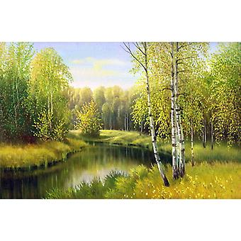 Wallpaper Mural River in Autumn Day