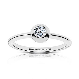 Buffalo State College diamant ring i sterling sølv design af BIXLER