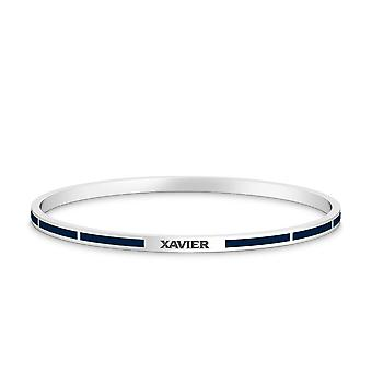 Xavier University Bracelet In Sterling Silver Design by BIXLER