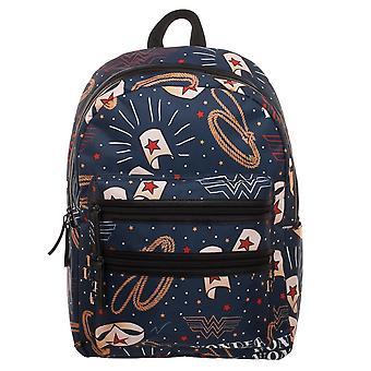 Backpack - Wonder Woman - Double Zip New Licensed bp6mp5dco