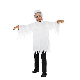 Ghost Ghost kaapissa sisäänrakennettu huntu lasten puku Unisex Carnival Halloween Ghost puku lapset