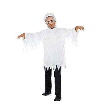 Ghost Ghost robe com built-in véu crianças traje unisex carnaval Halloween Ghost costume Kids