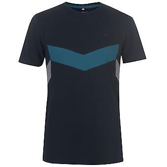 Soviet Men Chevron Panel T Shirt Crew Neck T-Shirt Tee Top