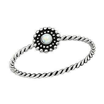 Flower - 925 Sterling Silver Jewelled Rings - W38543x