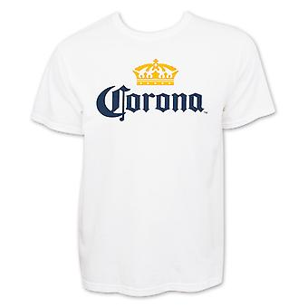 Corona Extra Men's White Beer Logo T-Shirt