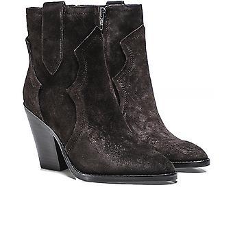 Ash Esquire Suede Cowboy Boots