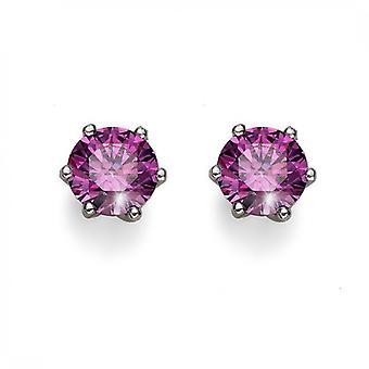 Oliver Weber Post Earring Brilliance Medium 925Ag Rhodium Crystal