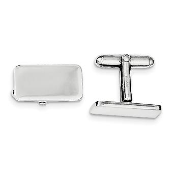 925 Sterling Silver Solid Polished Engravable and Cuff Links Jewelry Gifts for Men - 11.7 Grams