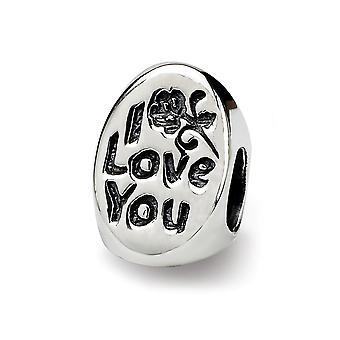 925 Diamantes pulidos de plata de ley Número 1 Trilogía de mamá Oval Bead Charm Colgante Collar Regalos de joyería para mujeres