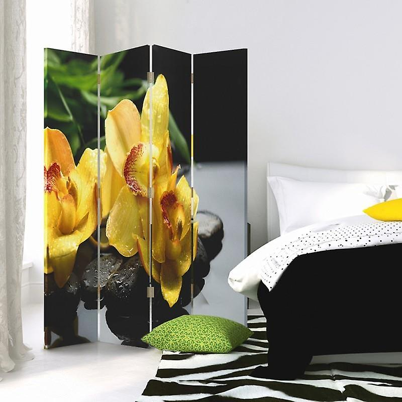 Room Divider, 4 panneaux, Double-Sided, Rotatable 360 ?? - Toile, Kwiatek