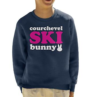 Courchevel Ski Bunny Kid's Sweatshirt