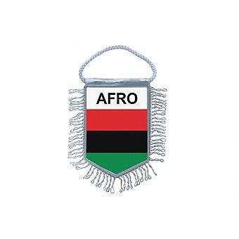 Sinalizar mini bandeira país carro decoração afro-americano