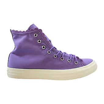 Converse Chuck Taylor All Star Hi Washed Lilac/Washed Lilac Frilly Thrills 564118C Women-apos;s