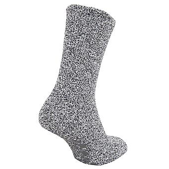 FLOSO Ladies Warm Slipper Socks With Rubber Non Slip Grip