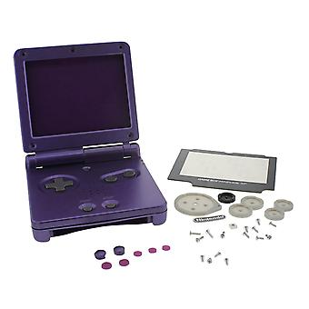 Vervanging behuizing shell Kit voor Nintendo Game Boy Advance SP Mario Edition-paars