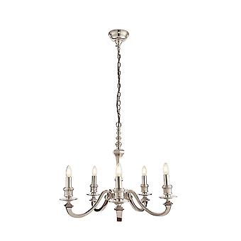 Endon Finsbury 5 Light Multi Arm Pendant Polished Cast Aluminium 73598