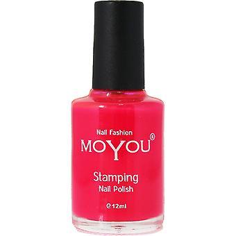 MoYou Stamping Nail Art - Special Nail Polish - Torch Red 12ml