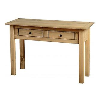 Panama 2 Drawer Console Table Natural Wax