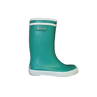 Aigle Lolly Pop Green Rubber Wellington Boots