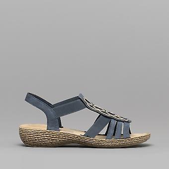 Rieker 658c0-14 Ladies Slip On Sandals Baltik